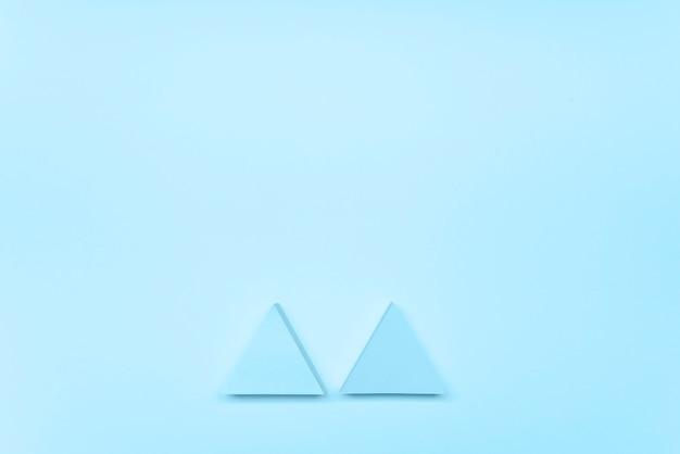 Setas azuis da vista superior