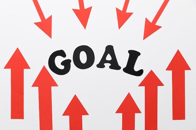 Setas centralizadas com gol