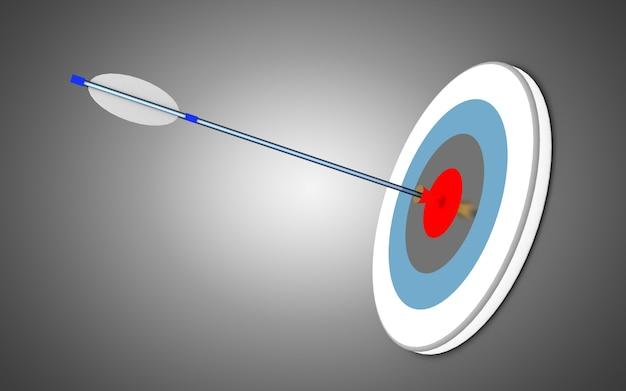 Setas e alvo. conceito de negócio de sucesso