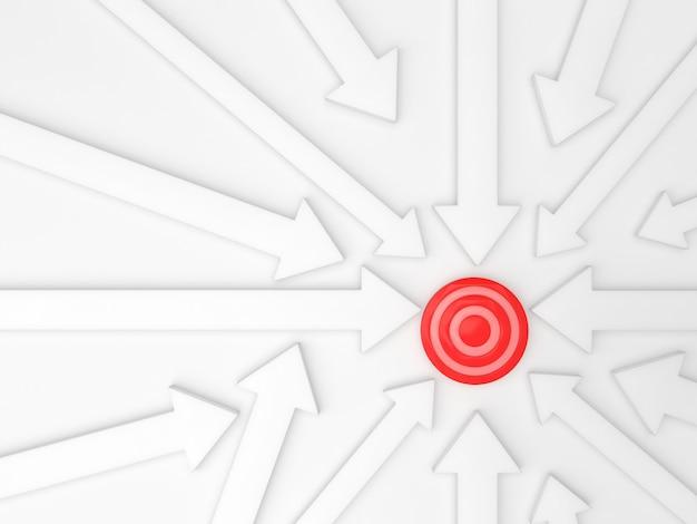 Setas fundo direção objetivo traget modelo de negócios pastel idéia
