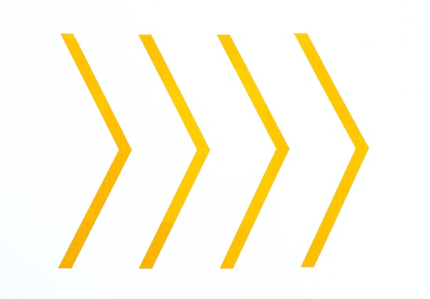 Setas mínimas amarelas