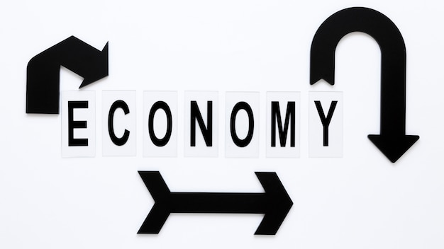 Setas representativas da economia