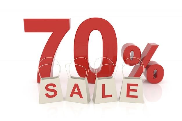 Setenta por cento de venda