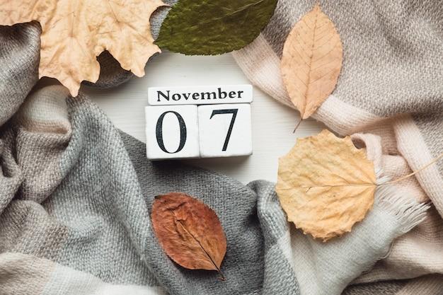 Sétimo dia do mês de outono calendário de novembro.