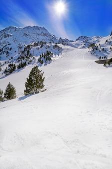 Setor de estância de esqui ordino arcalis em andorra