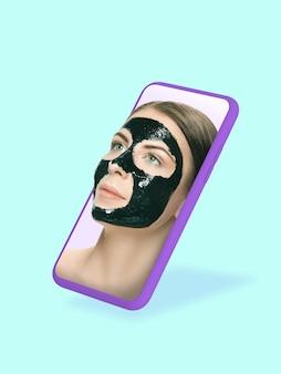 Seu smartphone ou outro dispositivo tudo que você precisa para um estilo de vida moderno copyspace para anúncios
