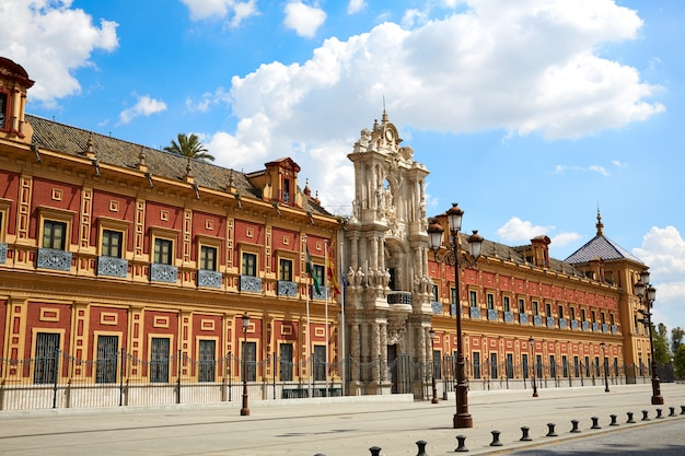 Sevilha palacio san telmo na andaluzia espanha