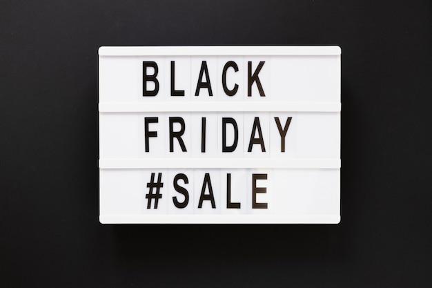 Sexta-feira negra caixa de luz de venda