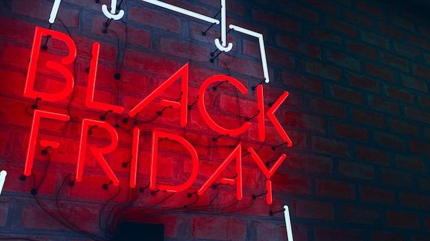 Sexta-feira negra luzes de néon