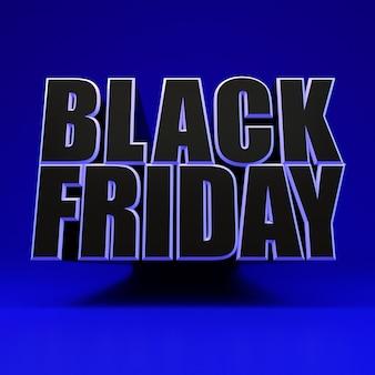 Sexta-feira negra quadrado azul banner