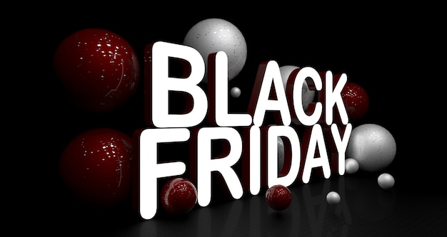 Sexta-feira negra renderização em 3d
