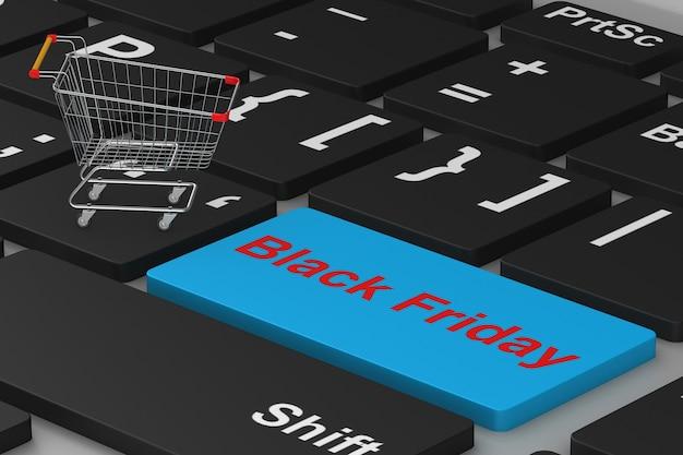 Sexta-feira preta. compras online. ilustração 3d