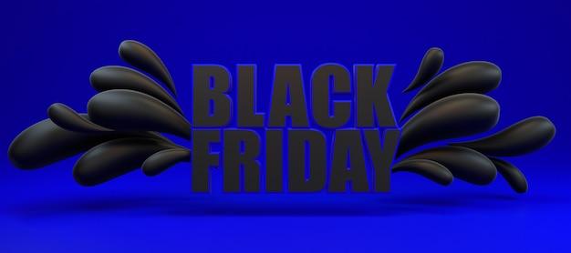 Sexta-feira preta longa faixa azul e preta.