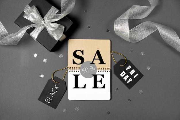 Sexta-feira venda conceito preto, cópia espaço