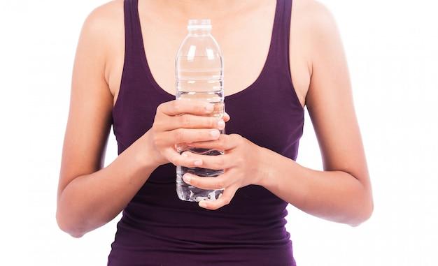 Sexy mulheres segurar beber água
