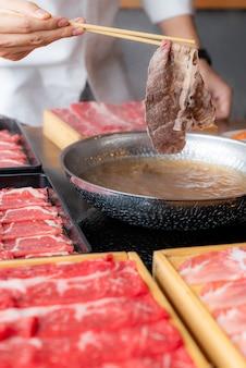 Shabu shabu cozinhar