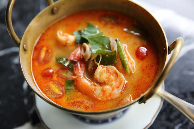 Shimp tom yum soup, comida tailandesa