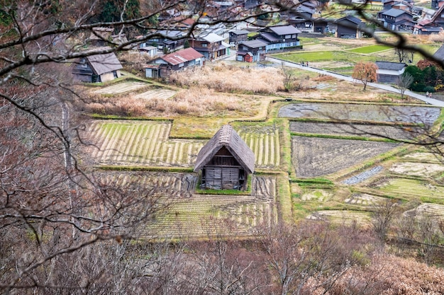 Shirakawa-go village no japão