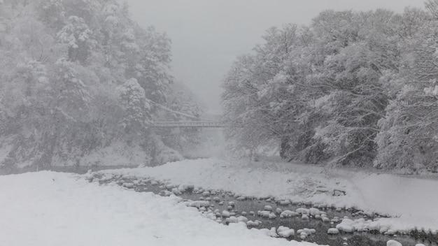 Shirakawa vão neve estação japão
