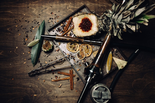 Shisha árabe com frutas