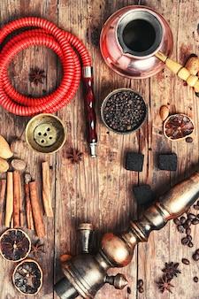 Shisha com café e especiarias