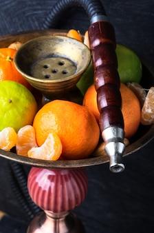 Shisha com sabor de limão e tangerinas