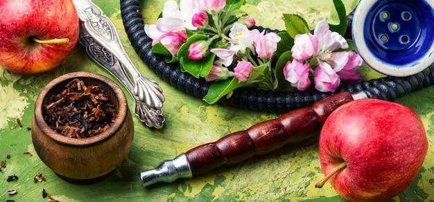 Shisha com tabaco de maçã