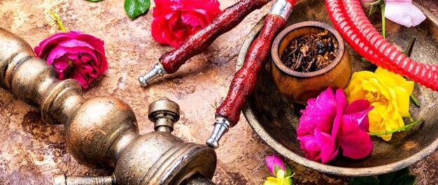 Shisha com tabaco rosa