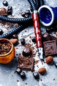 Shisha de tabaco com sabor de chocolate