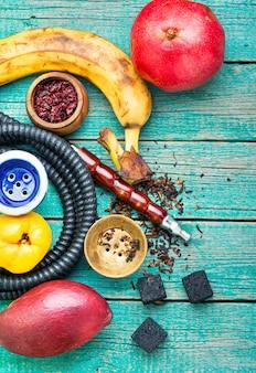Shisha de tabaco na fruta