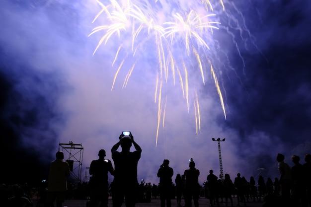 Show de fogos de artifício musical