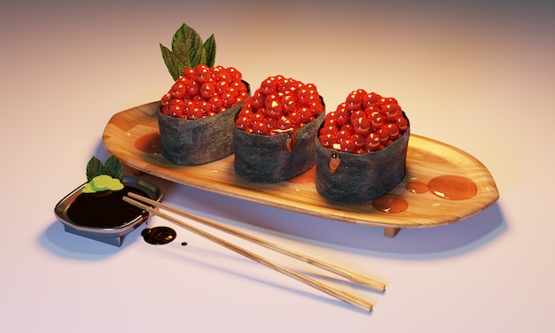 Shusi comida estilo japonês.