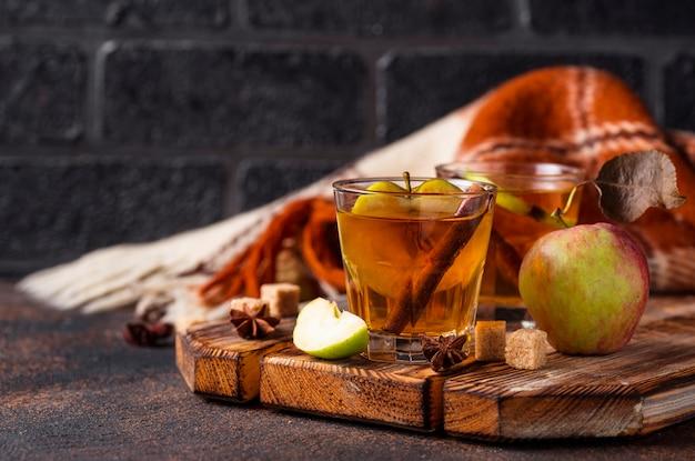 Sidra de maçã picante, bebida de outono