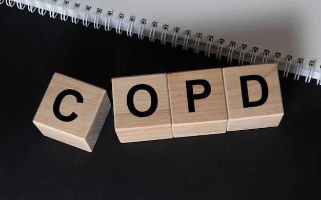 Sigla copd conceito de doença pulmonar pulmonar crônica