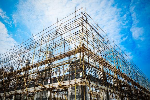 Silhueta de construção