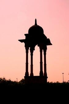 Silhueta de pavilhão da índia