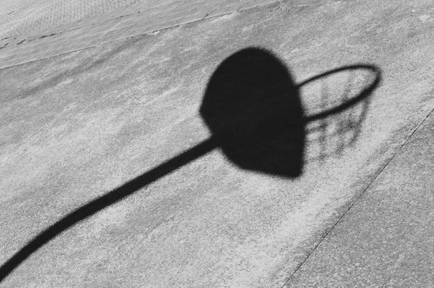 Silhueta de sombra de esporte de basquete
