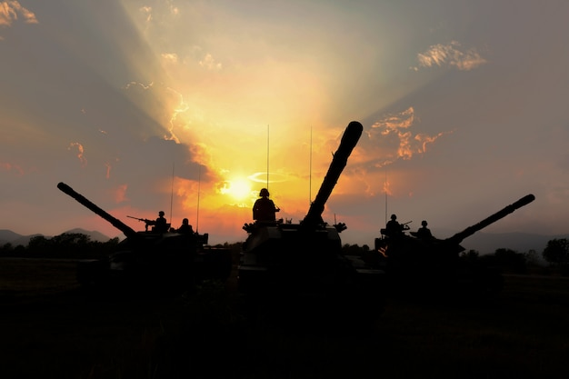 Silhueta de tanque do exército