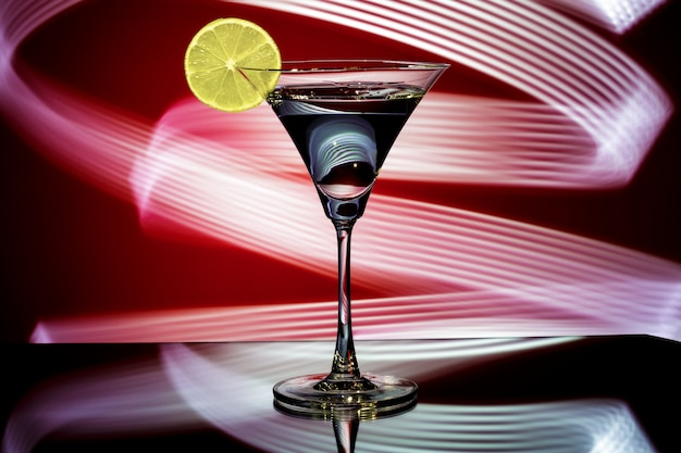 Silhueta de um copo com coquetel