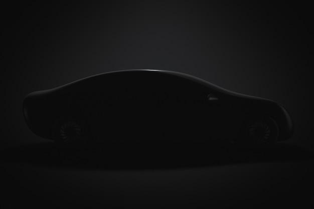 Silhueta de um protótipo de carro de passageiros. vista lateral.