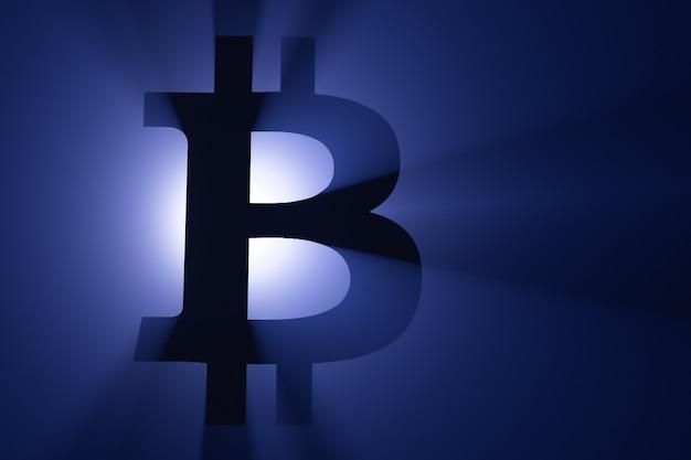 Silhueta do símbolo bitcoin.