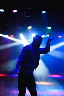 Silueta, de, dançarino masculino