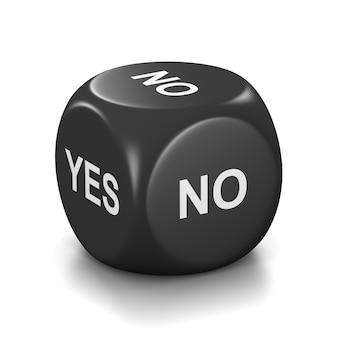 Sim ou não dados pretos