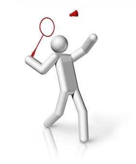 Símbolo 3d de badminton