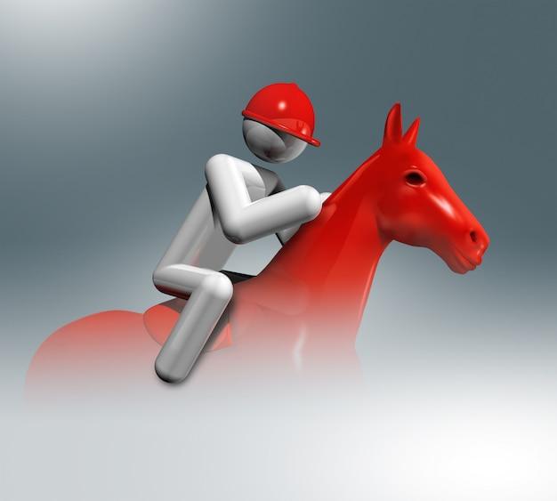 Símbolo 3d de salto equestre, esportes olímpicos