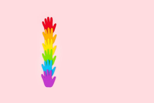 Símbolo da bandeira lgbt
