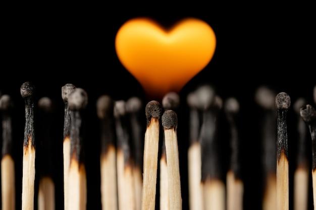 Símbolo de amor, devoção, paixão ardente de amor