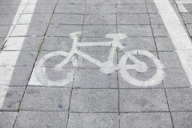 Símbolo de bicicleta.