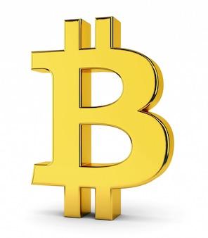 Símbolo de bitcoin dourado