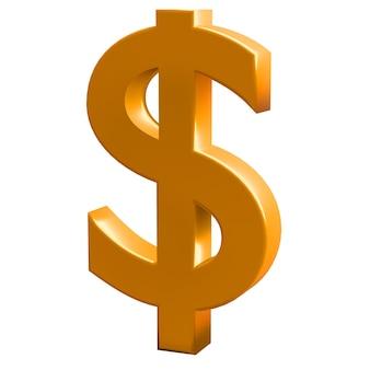 Símbolo de finanças e negócios. cifrão de ouro.